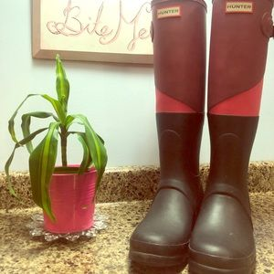 Hunter Boots Original Asym Cblock Style Boot.SZ8